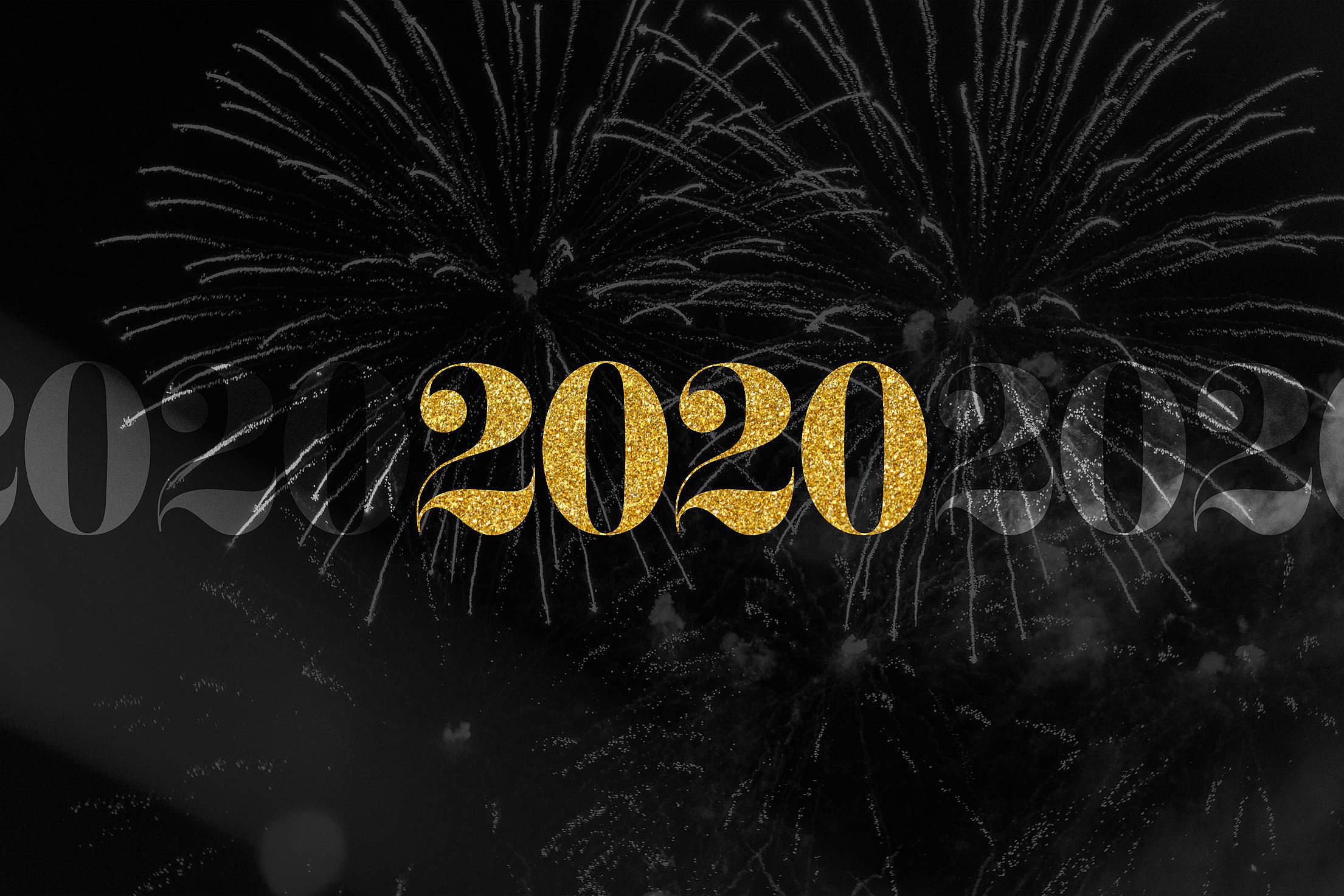 2020 Happy New Year Free Stock Photo