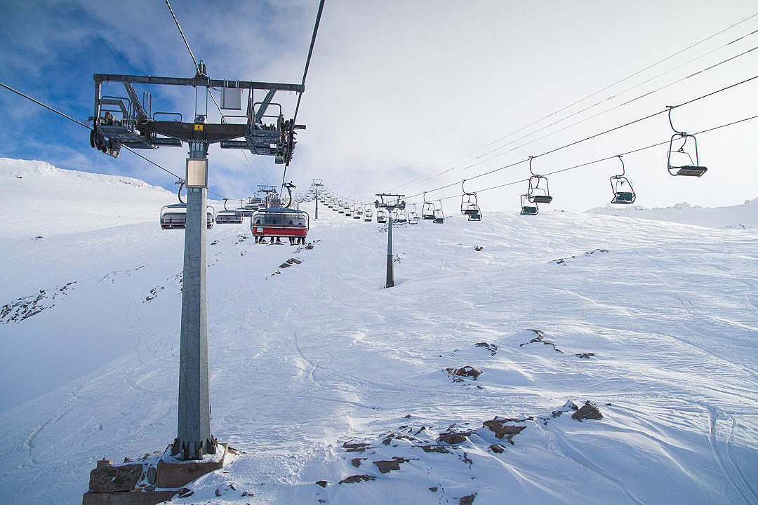 Download 4 Lines of Cableway To The Top FREE Stock Photo