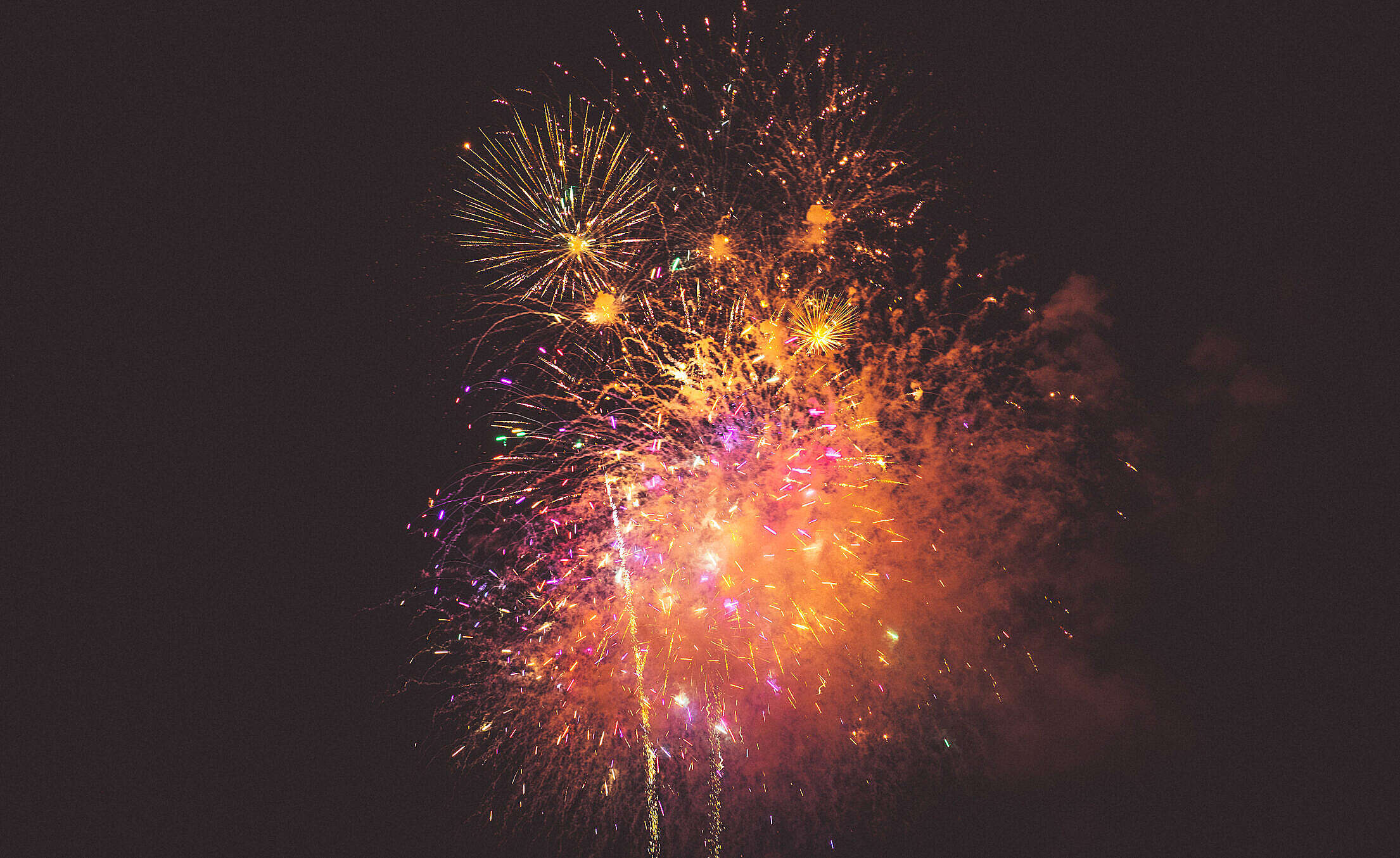 4th July Fireworks Free Stock Photo