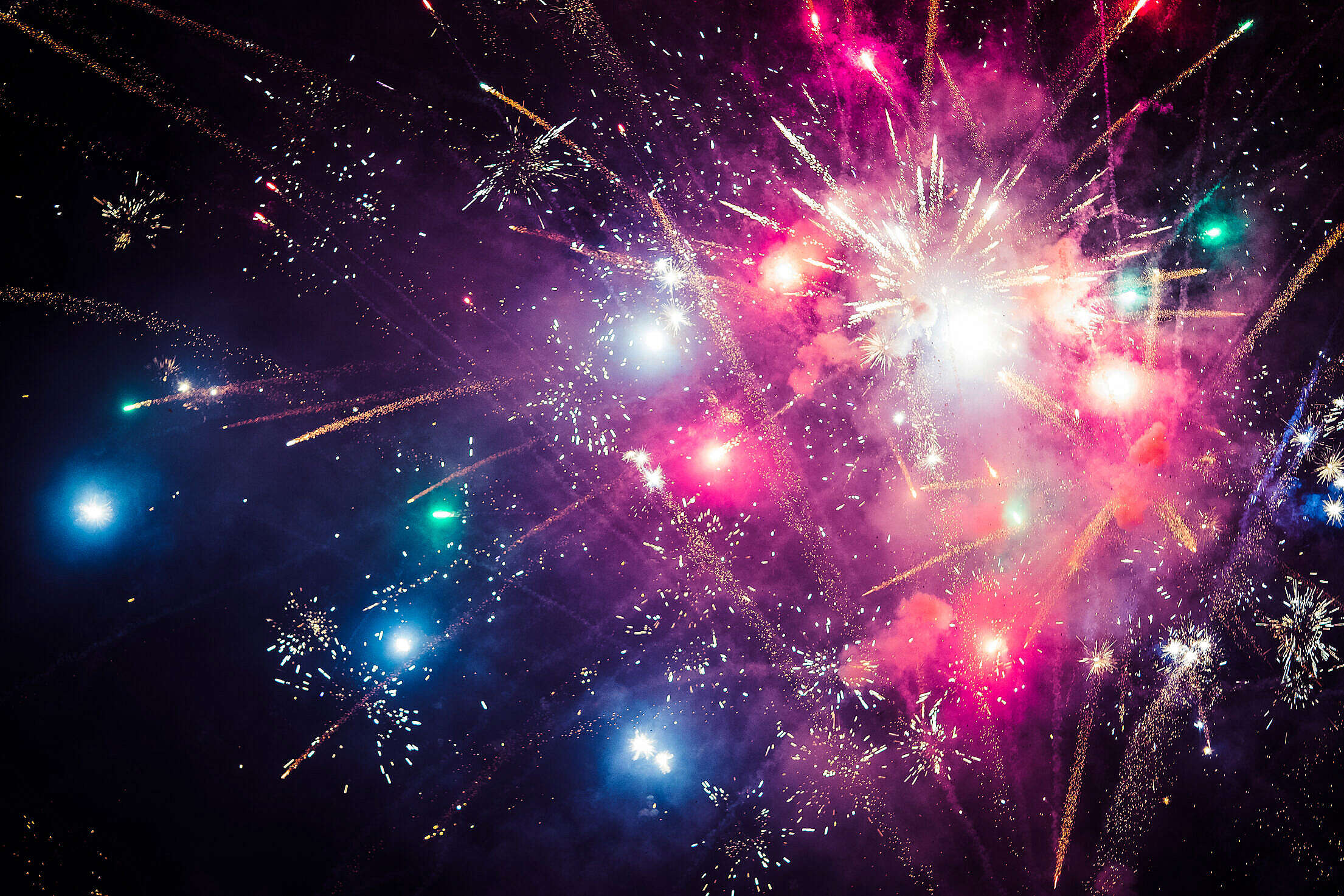 4th of July Colorful Fireworks Free Stock Photo