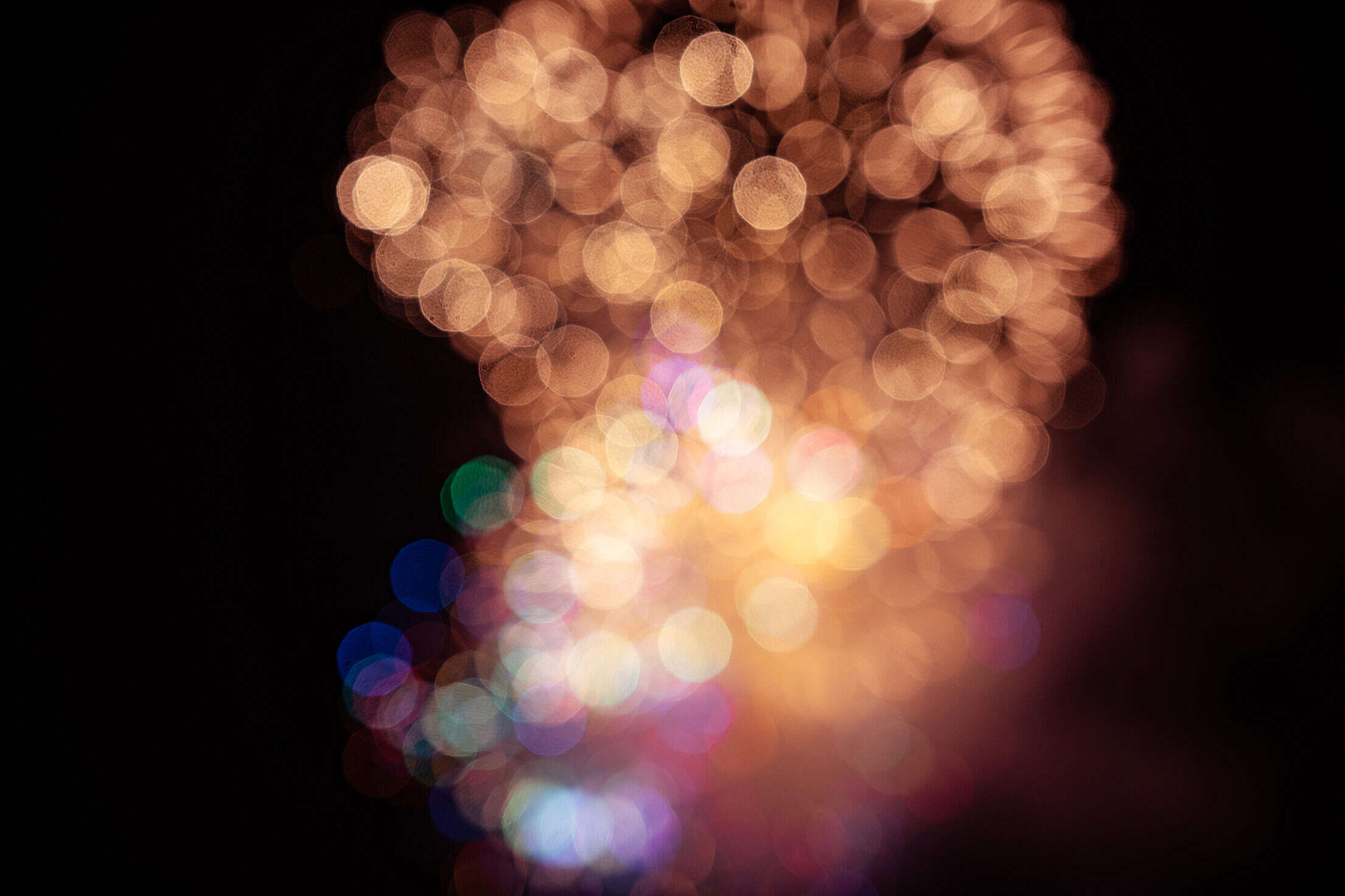 4th of July Fireworks Background Bokeh Free Stock Photo