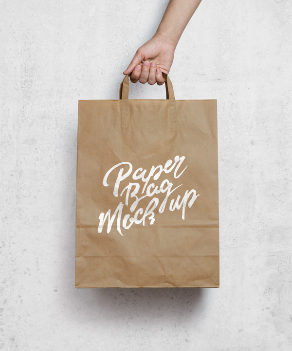 Brown Paper Bag MockUp stock photo collection