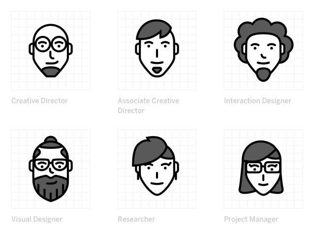 Design Characters Icons stock photo collection