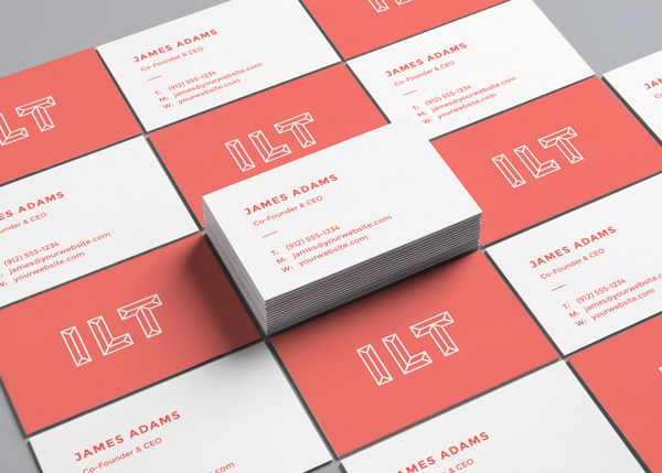 Free Perspective Business Card Mockup stock photo collection