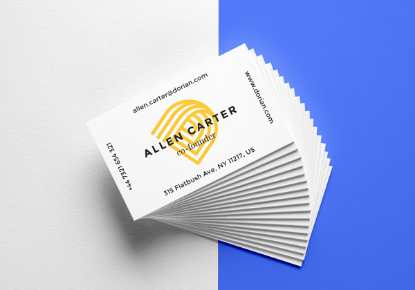 Realistic Business Cards MockUp stock photo collection