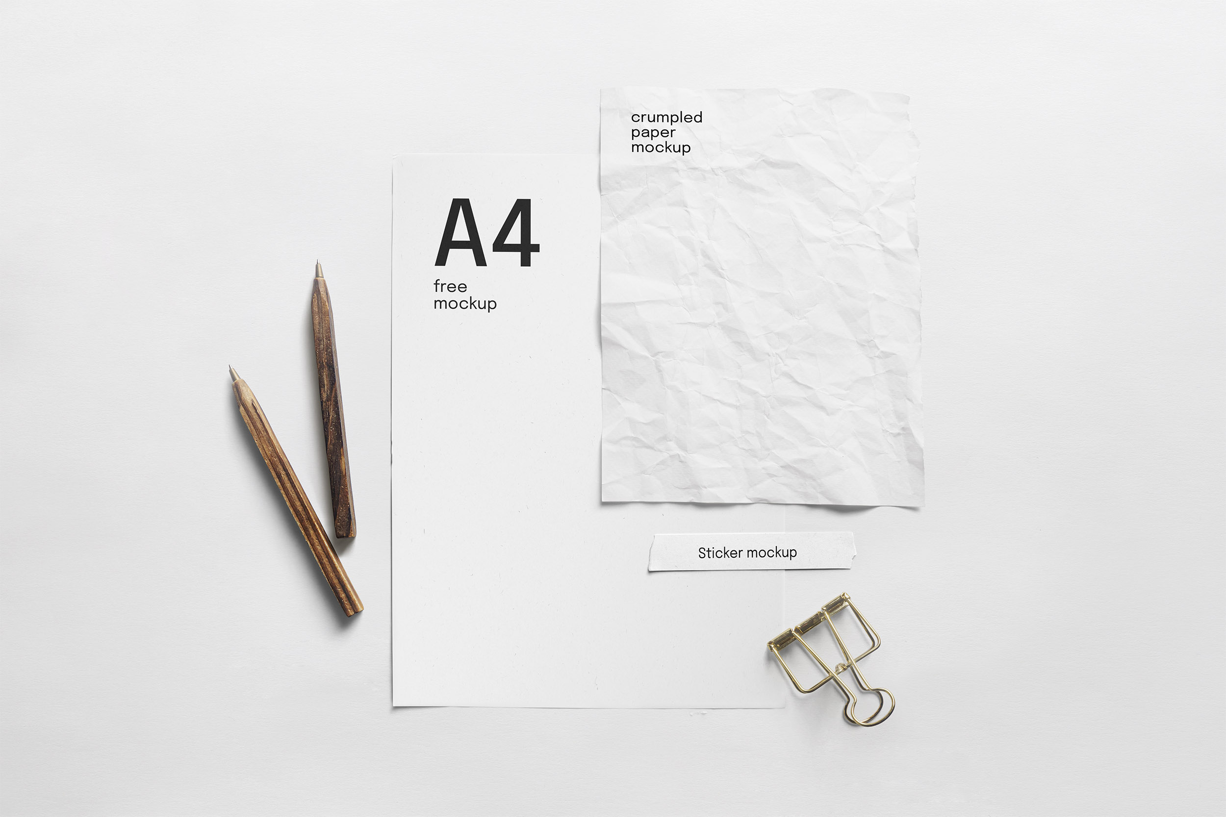 Free Paper Composition Mockup
