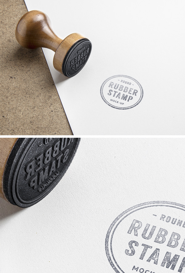 Rubber Stamp PSD MockUp stock photo collection