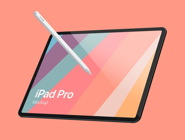 Apple iPad Pro FREE MockUp stock photo collection