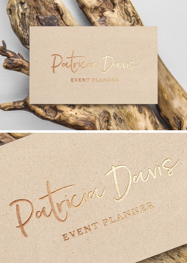 Luxury Gold Foil Business Card Mockup Free