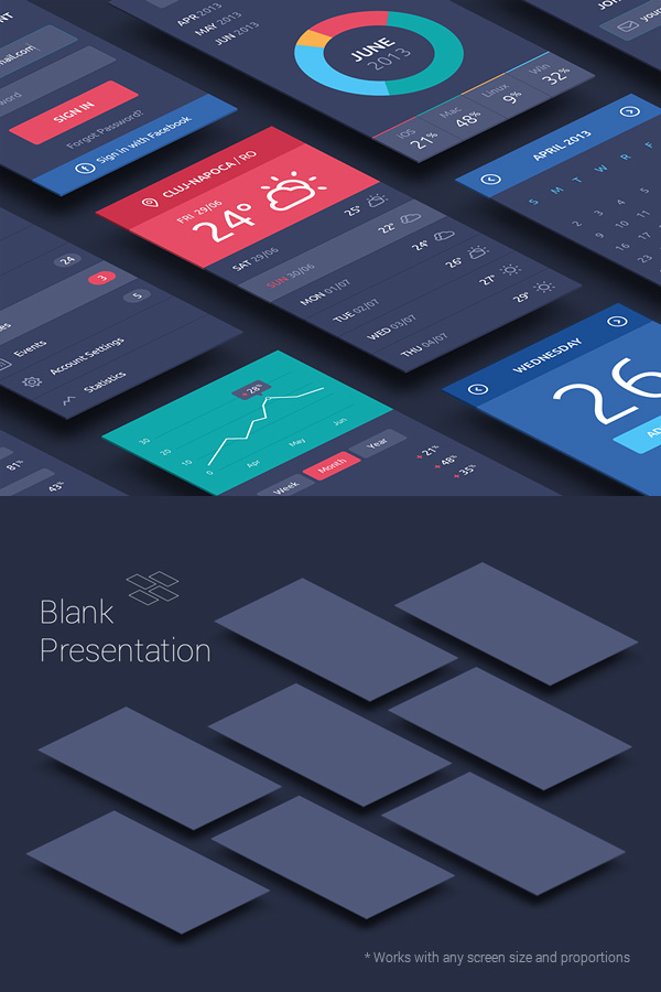 Perspective App Screens Mock-Up stock photo collection
