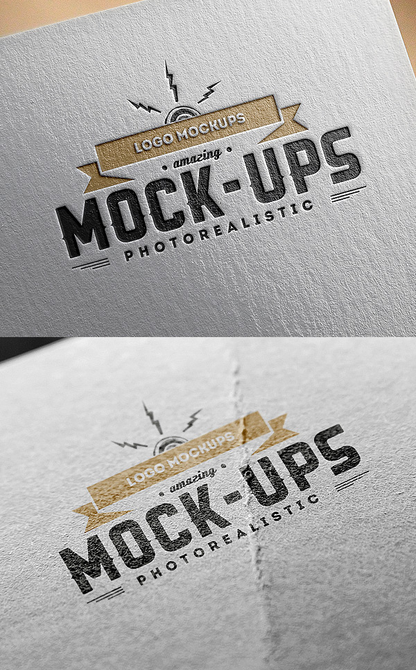 Logo MockUps – Paper Edition stock photo collection