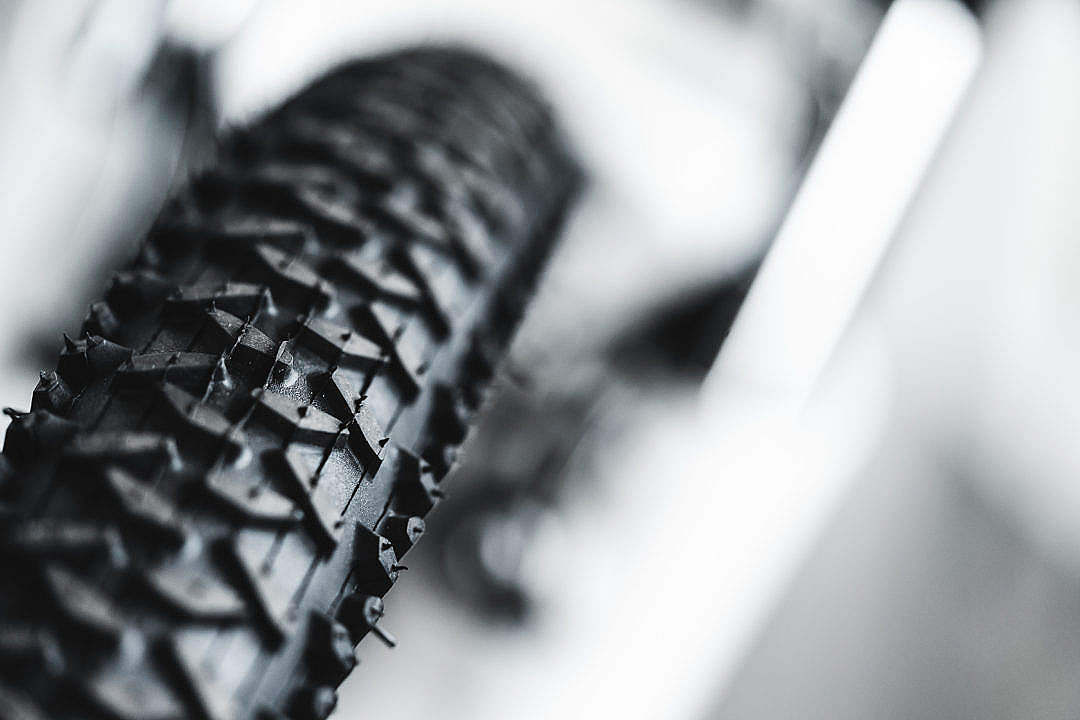 Download A Bicycle Tyre FREE Stock Photo