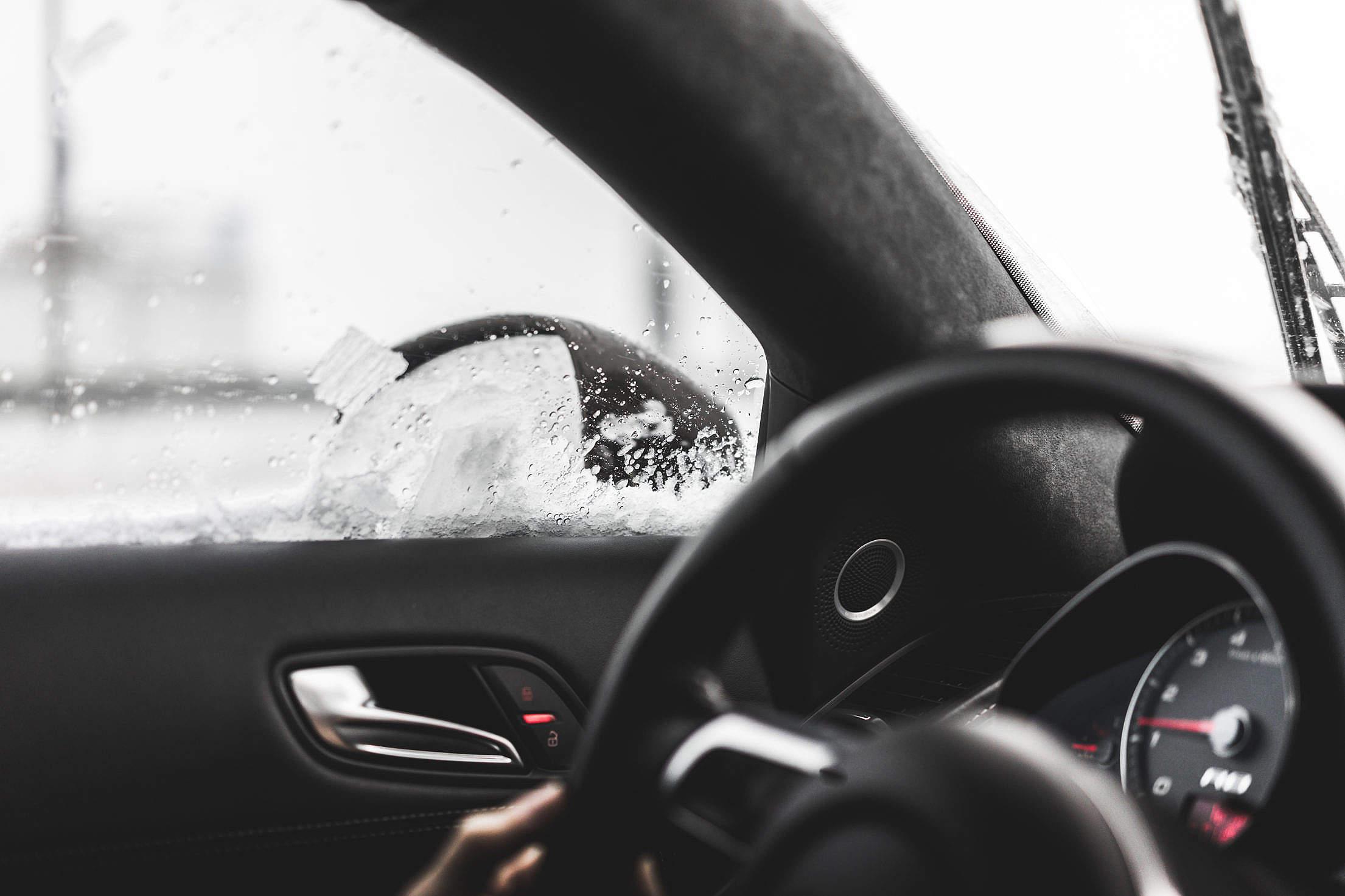 """A"" Pillar in Modern Car Interior Dashboard with Steering Wheel Free Stock Photo"