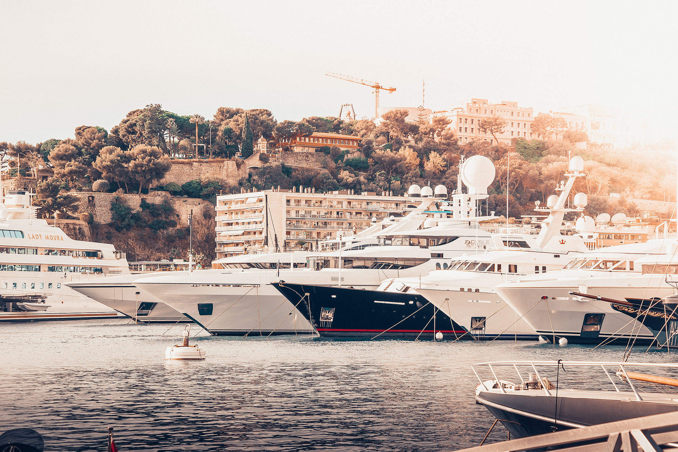 A Port with Yachts in Monaco Free Stock Photo