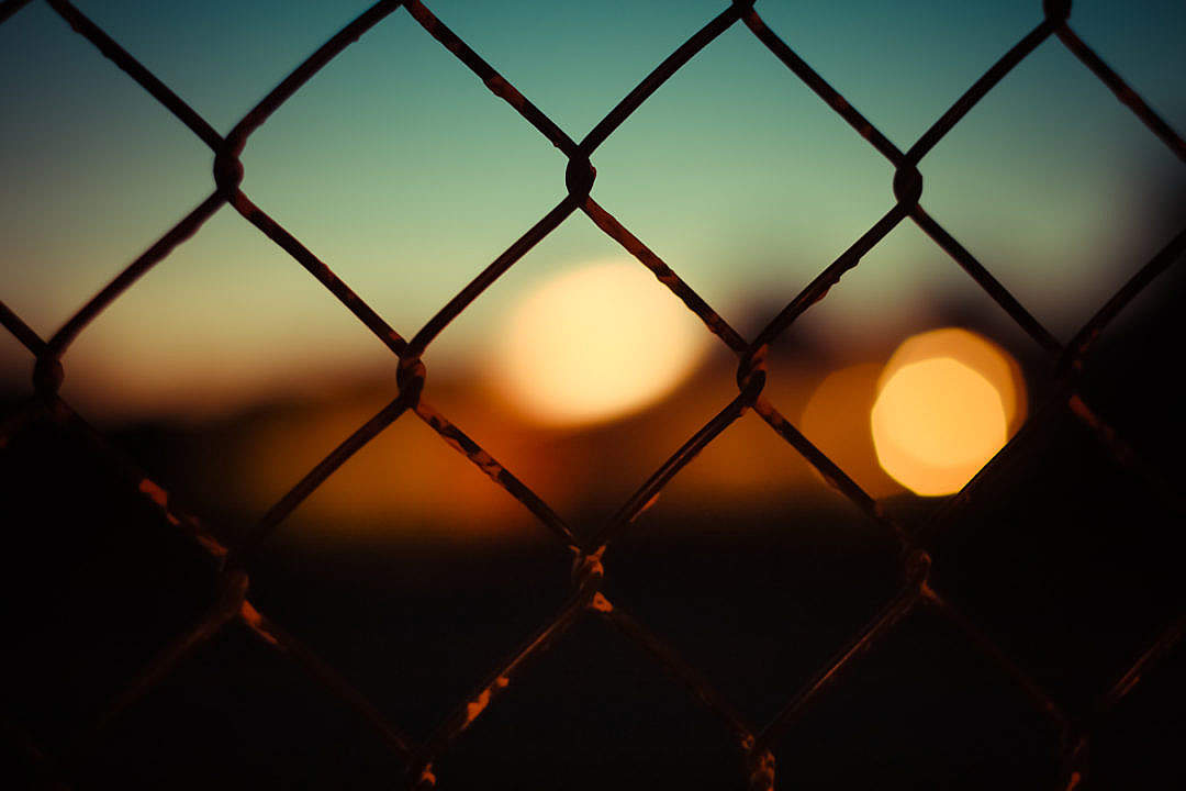 Download Abstract Bokeh Through a Fence FREE Stock Photo