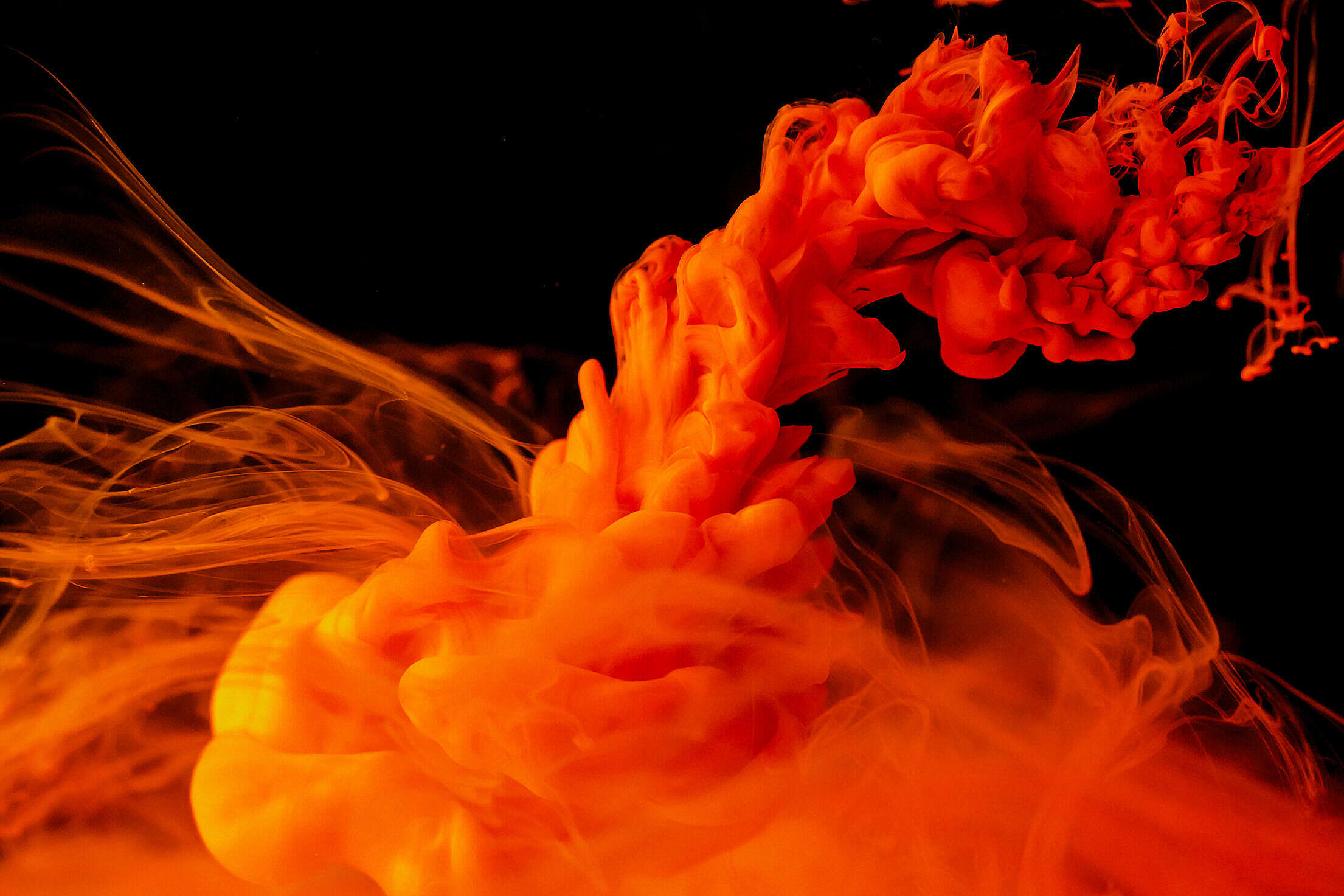 Abstract Red Ink Explosion Free Stock Photo