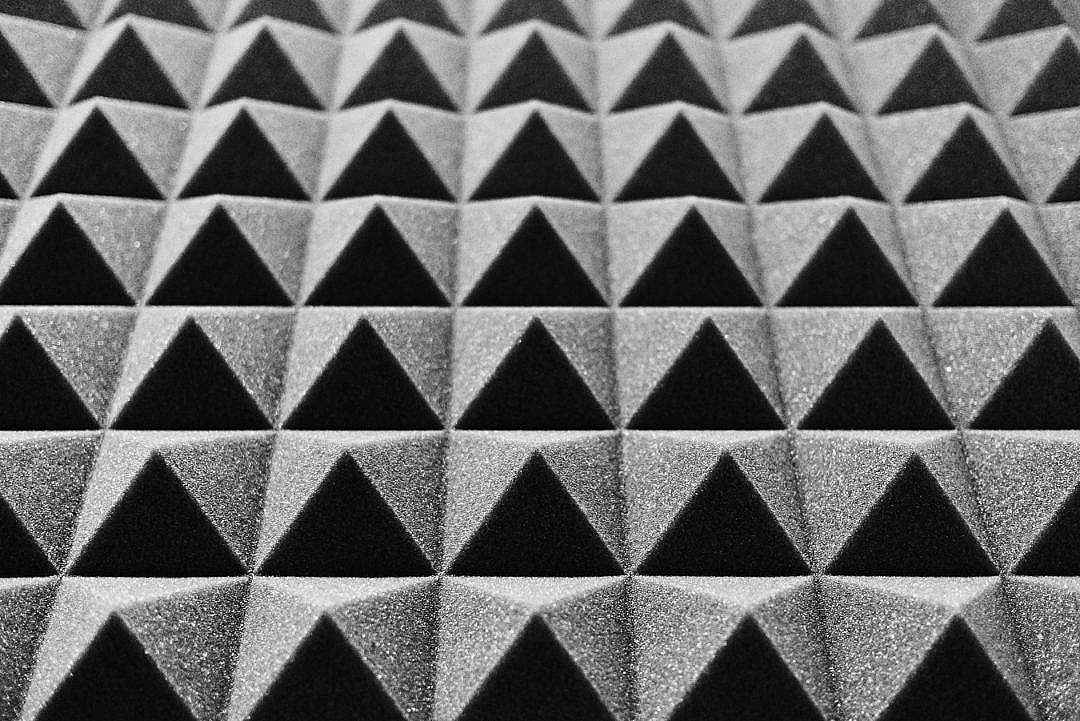 Download Acoustic Foam in a Music Studio FREE Stock Photo