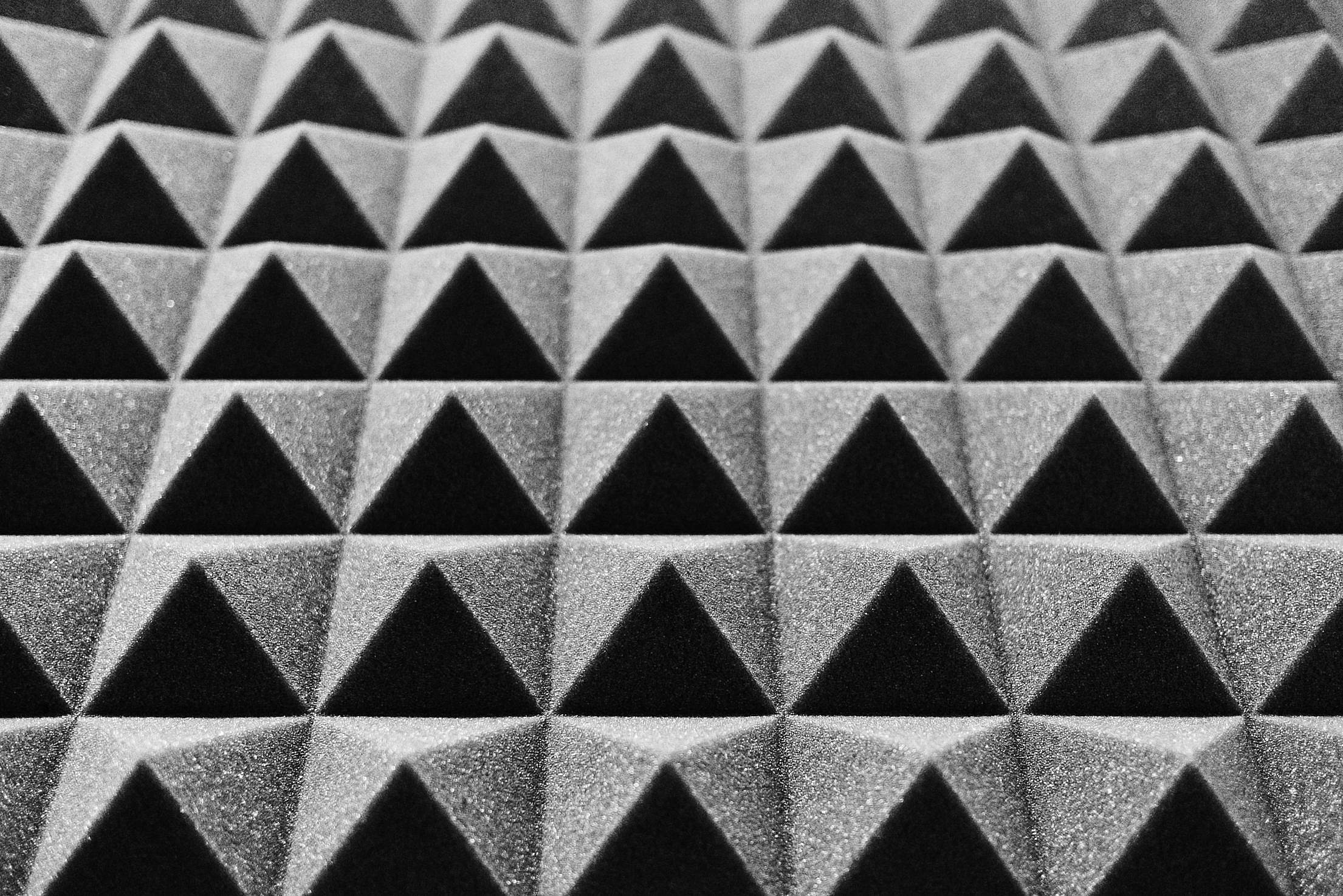 Acoustic Foam in a Music Studio Free Stock Photo