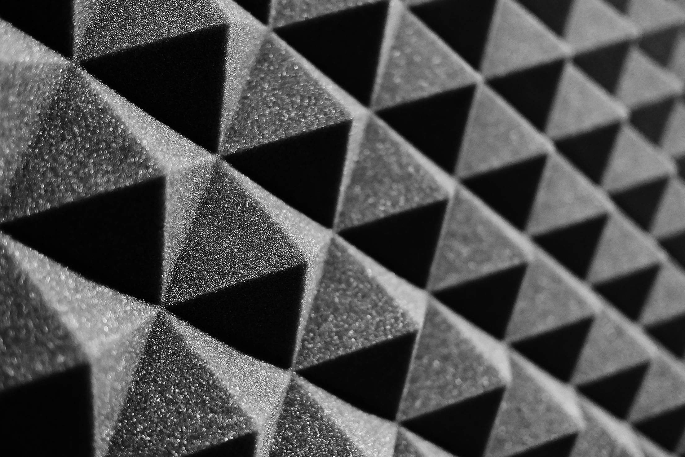 Acoustic Foam in a Recording Studio Free Stock Photo