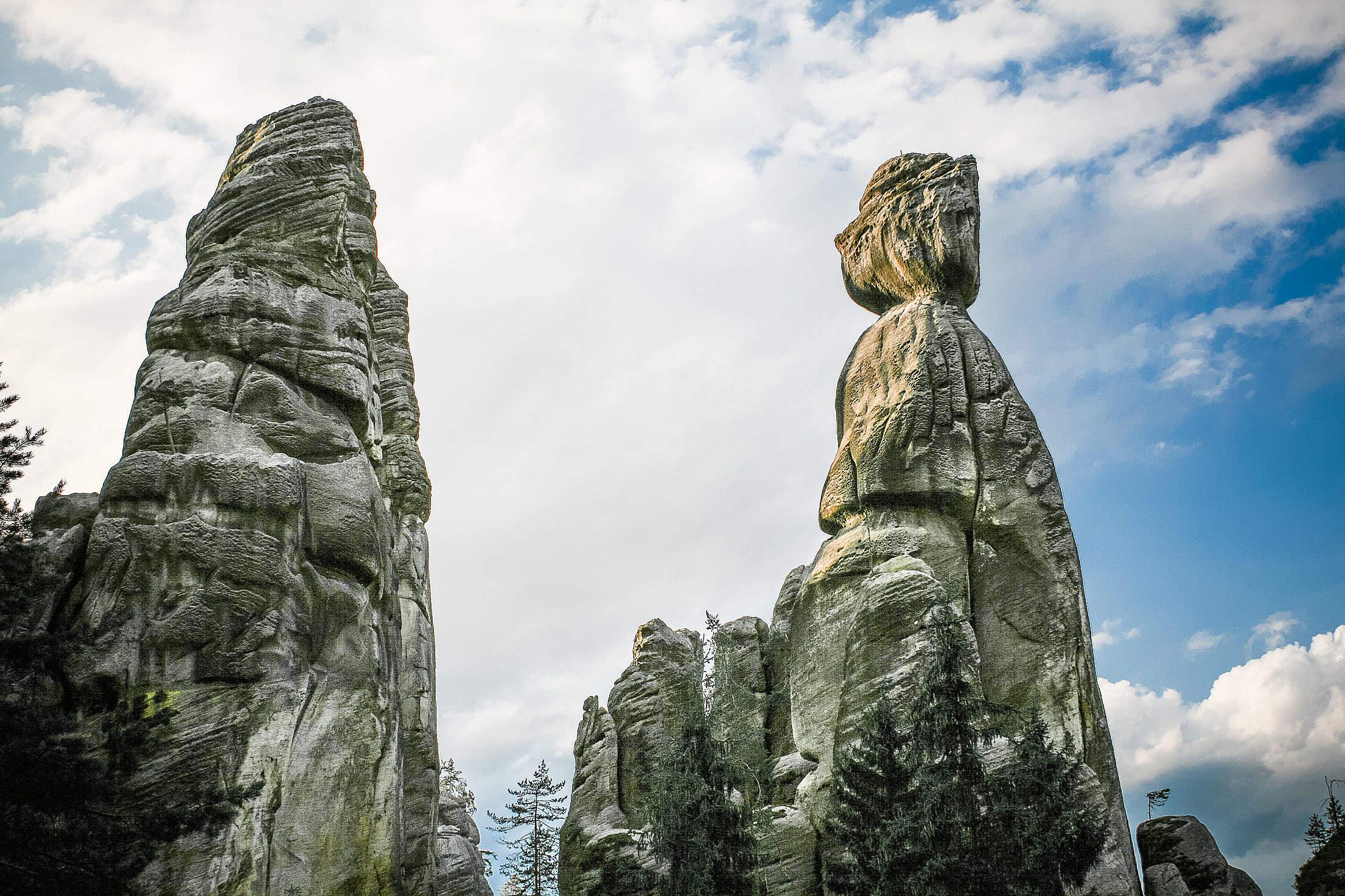 Adrspach-Teplice Rocks in Czech Republic Free Stock Photo