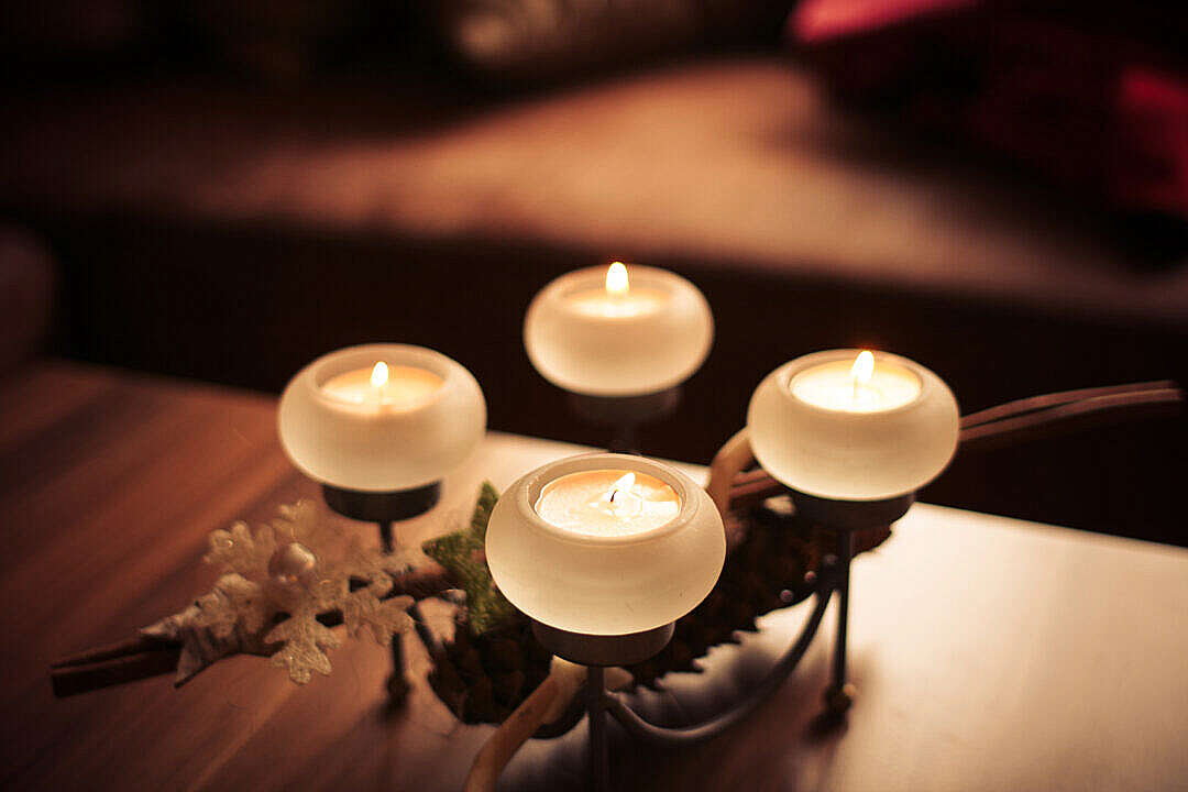 Download Advent Candles 2013 Centered FREE Stock Photo