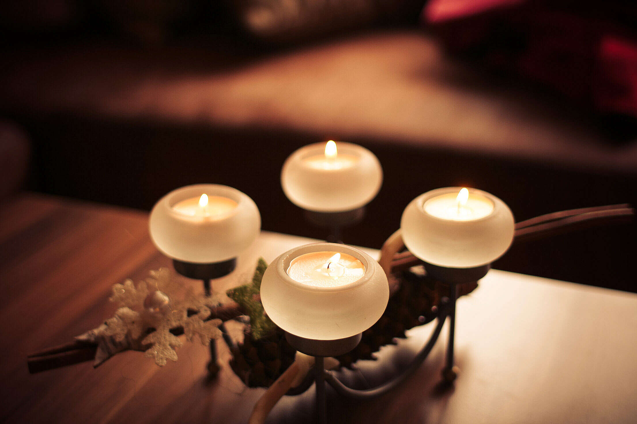 Advent Candles 2013 Centered Free Stock Photo