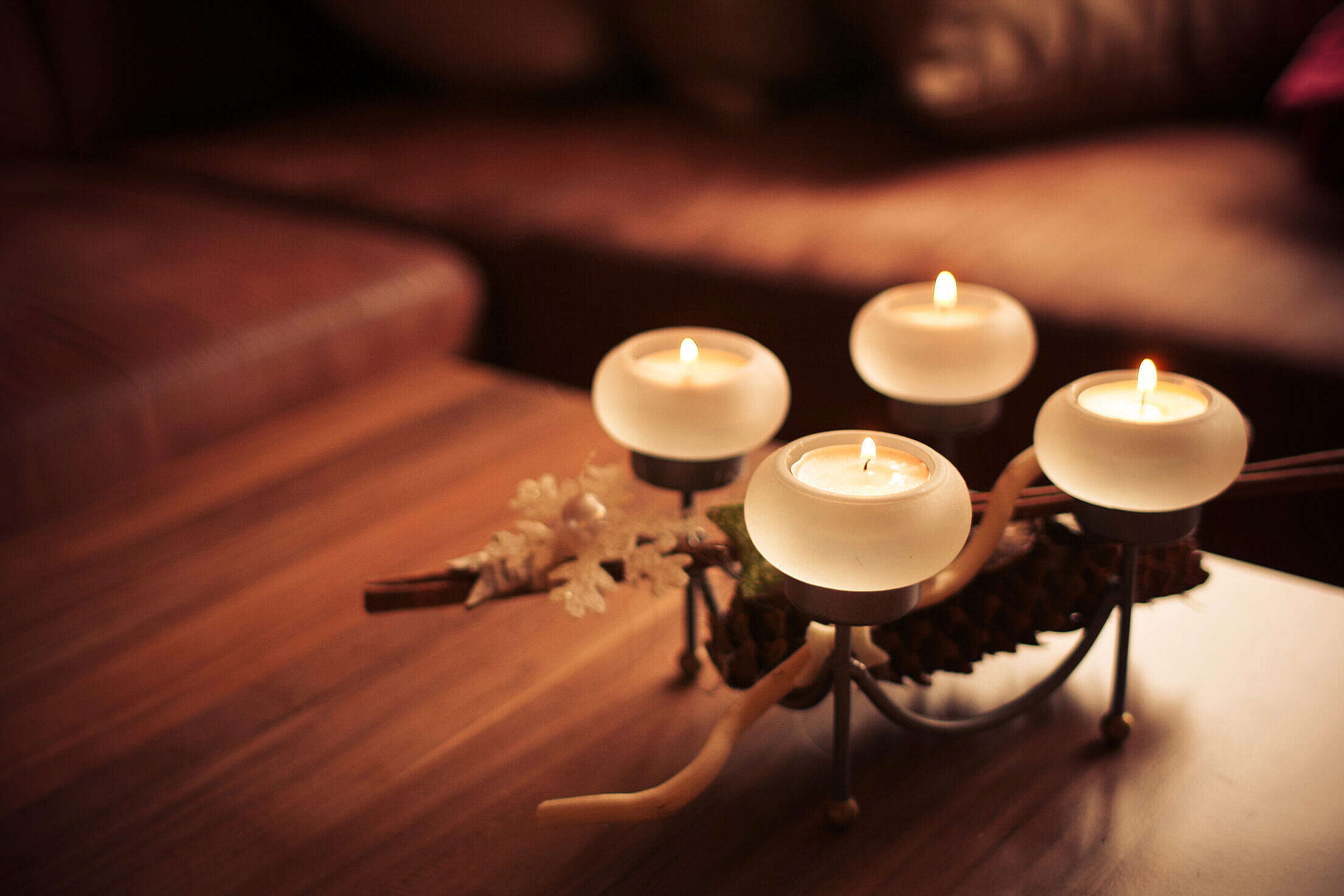 Advent Candles 2013 Right Free Stock Photo