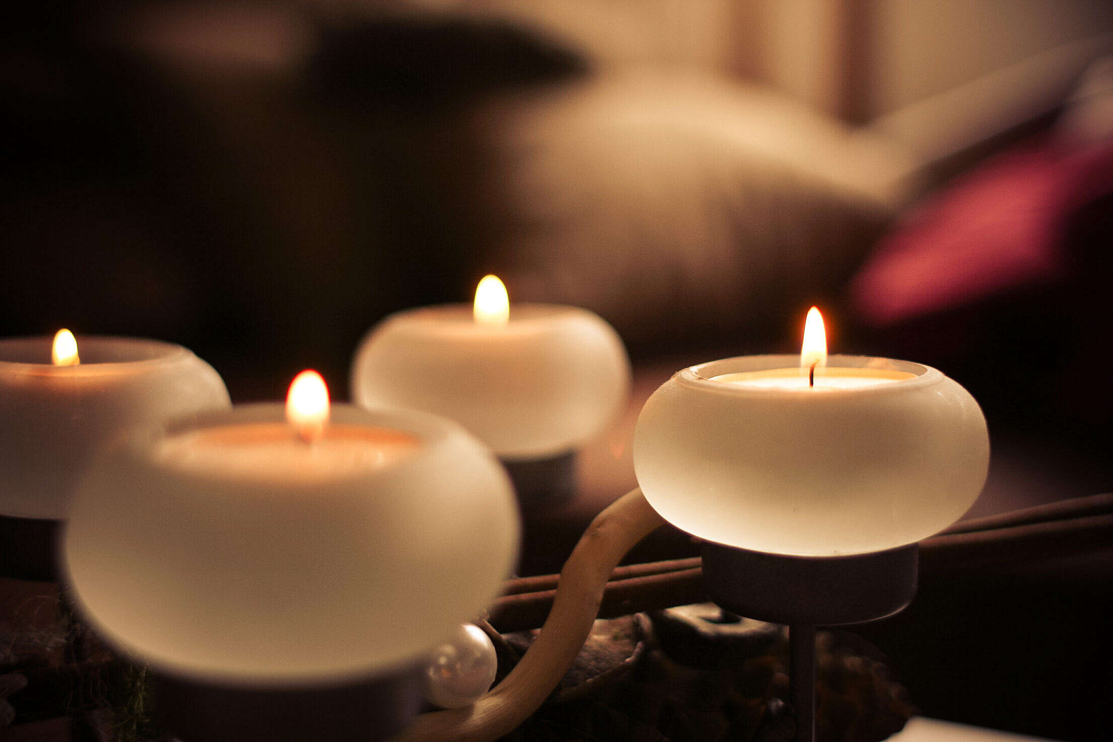 Advent Candles Detail Free Stock Photo