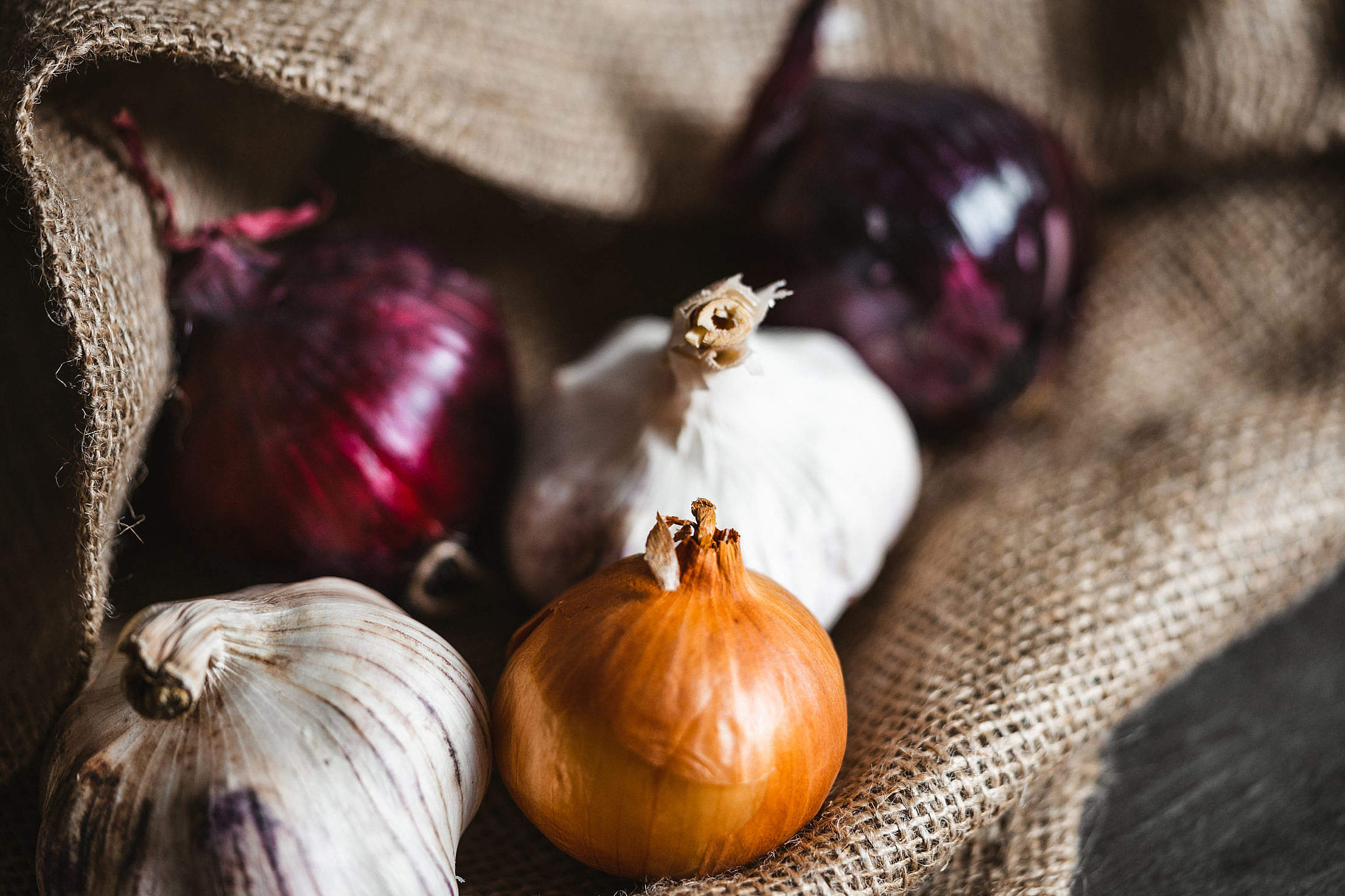 All Kinds of Onions Free Stock Photo