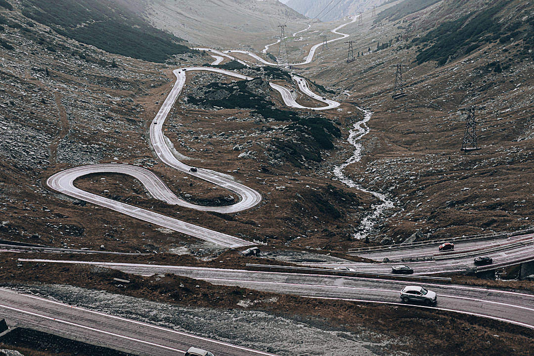 Download Alpine Road Transfagarasan in Romania FREE Stock Photo