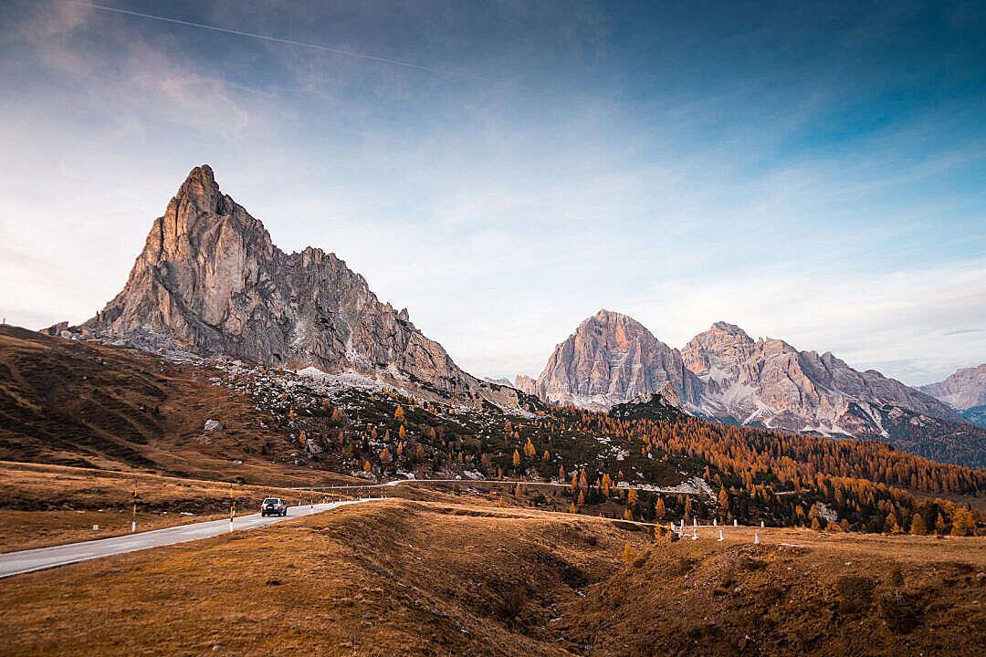Download Alpine Roads at Passo di Giau, Dolomites, Italy FREE Stock Photo