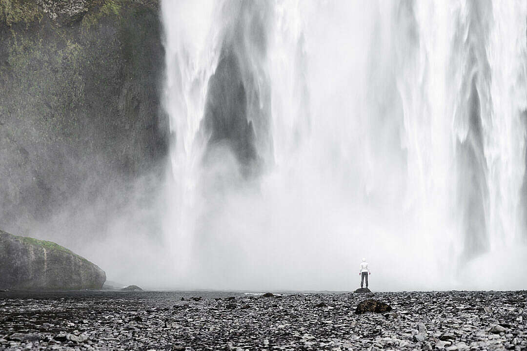 Download Amazing Waterfalls in Iceland (Skógafoss) FREE Stock Photo