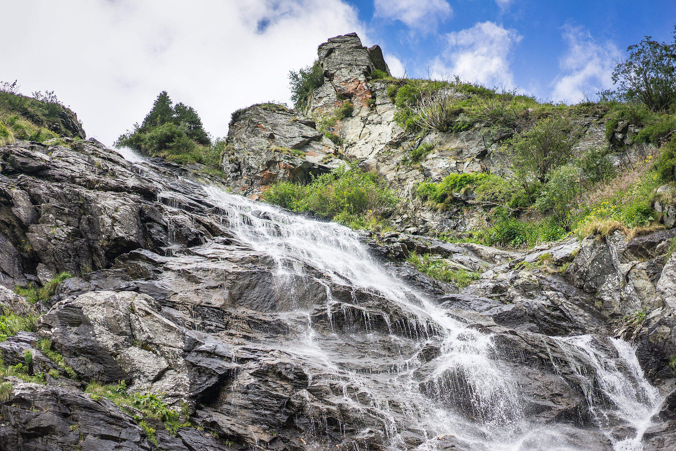 Amazing Waterfalls in Pure Romanian Nature Free Stock Photo