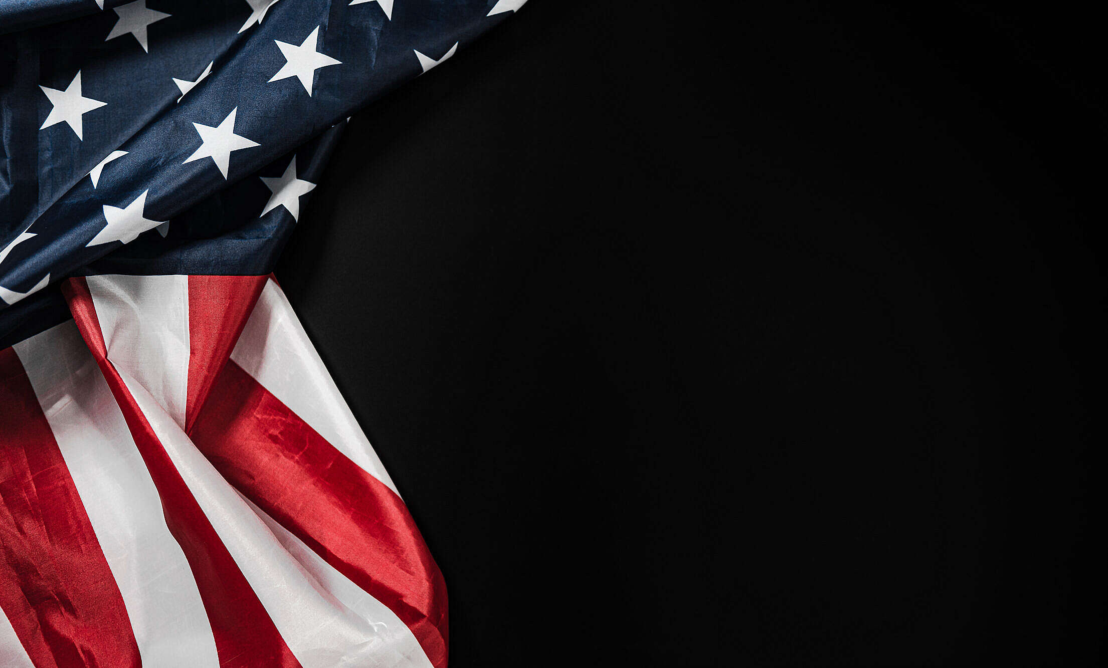 American Flag on a Black Background Free Stock Photo