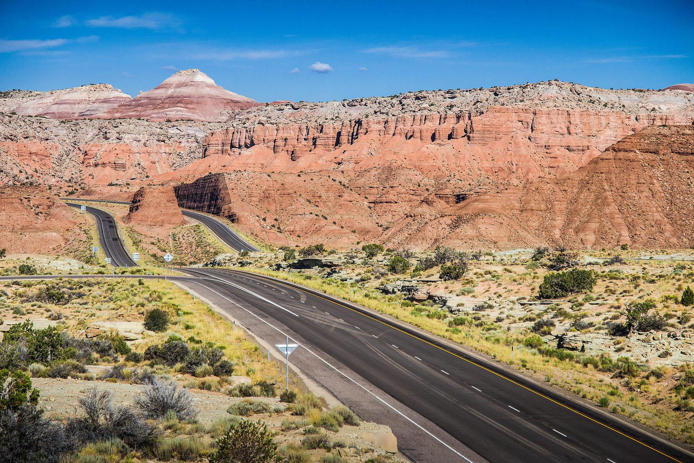 American Interstate in Utah #1 Free Stock Photo