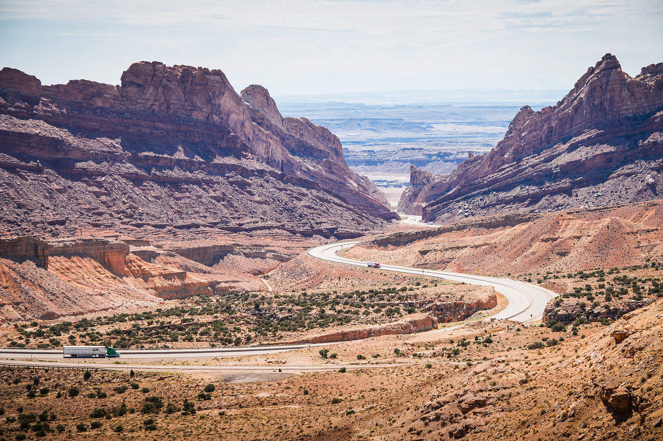 American Interstate in Utah #2 Free Stock Photo