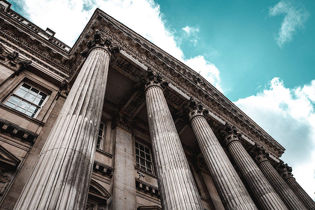 Download Ancient Classical Order on Historical Building in London FREE Stock Photo