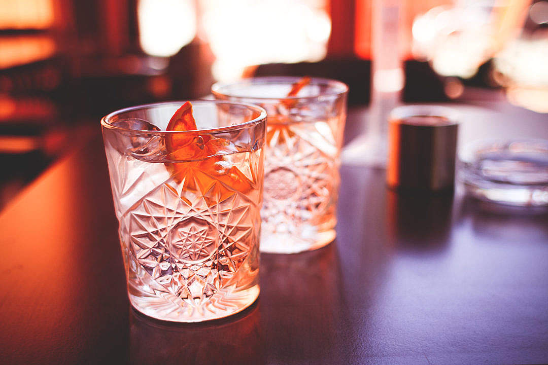 Download Another Cool Drinks with Dried Orange FREE Stock Photo