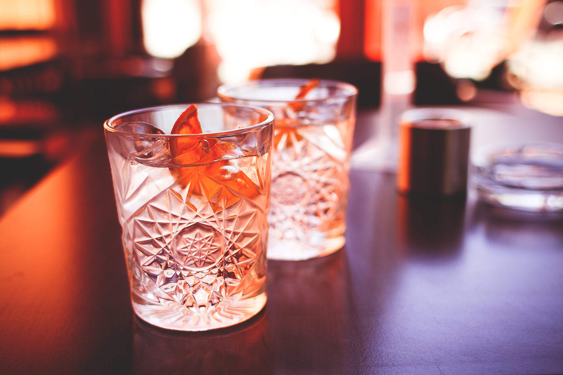 Another Cool Drinks with Dried Orange Free Stock Photo