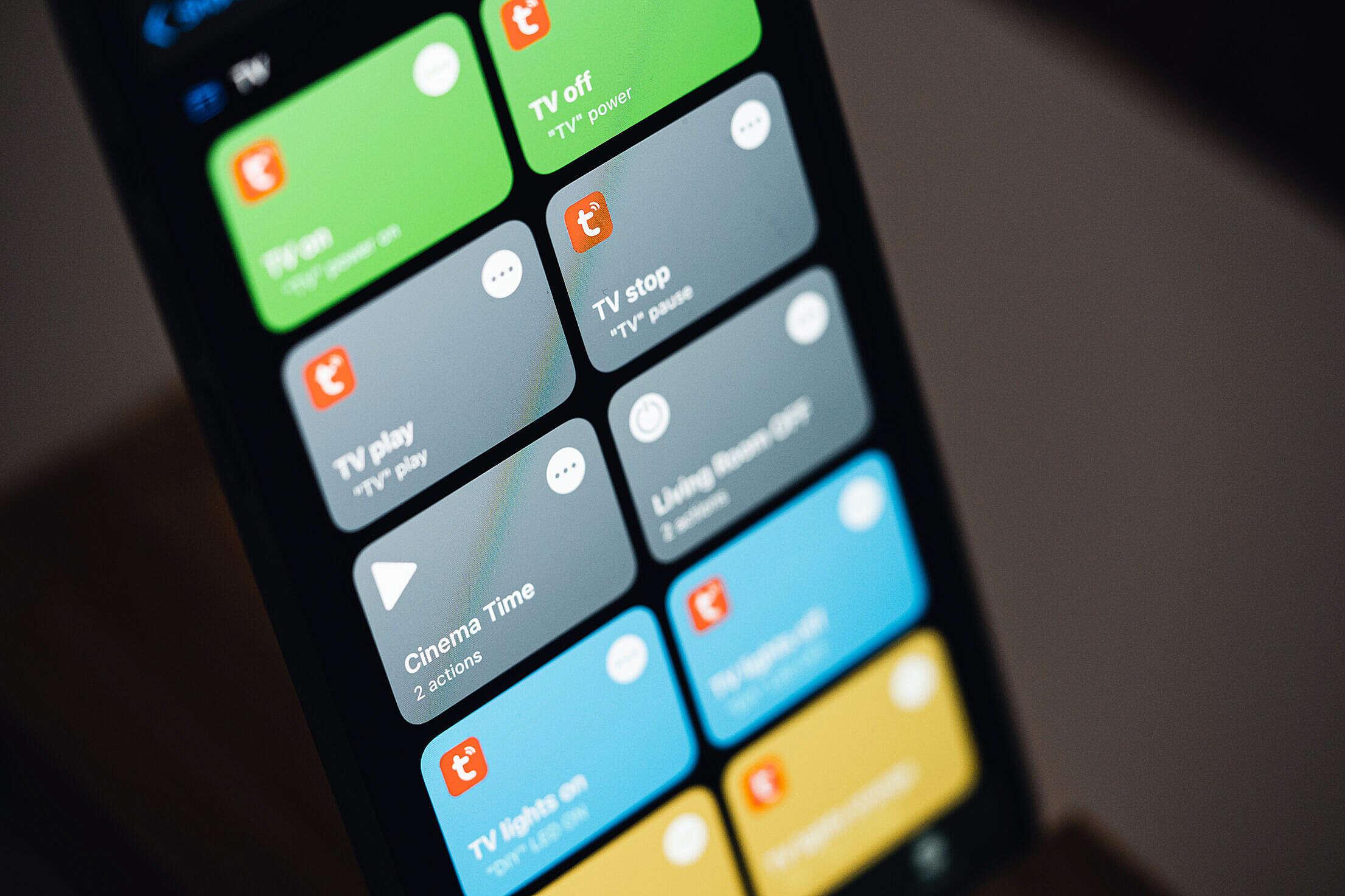 Apple Shortcuts App Free Stock Photo
