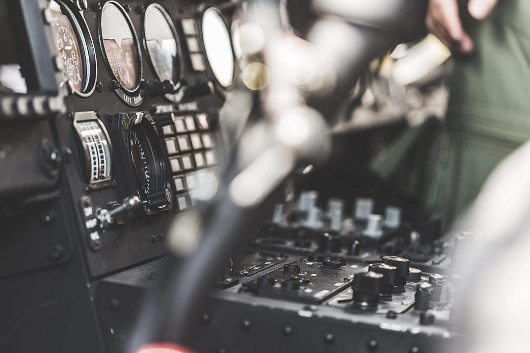 Download Army Helicopter Cockpit Dashboard FREE Stock Photo