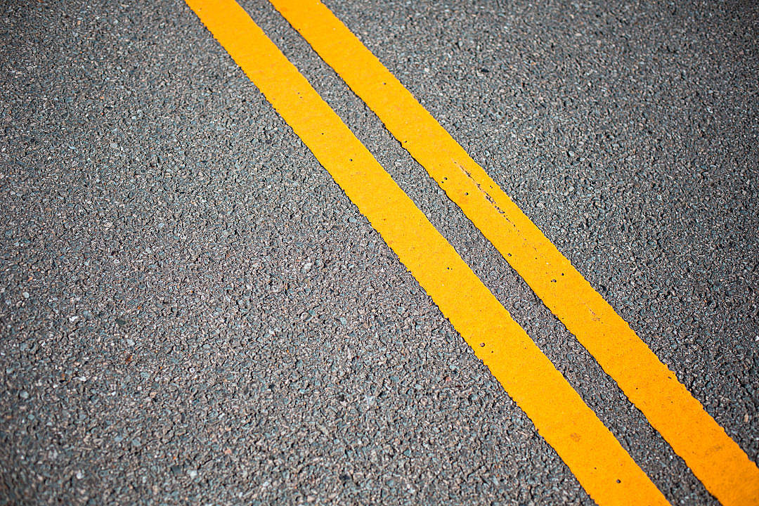 Download Asphalt Road with Yellow Road Lines FREE Stock Photo