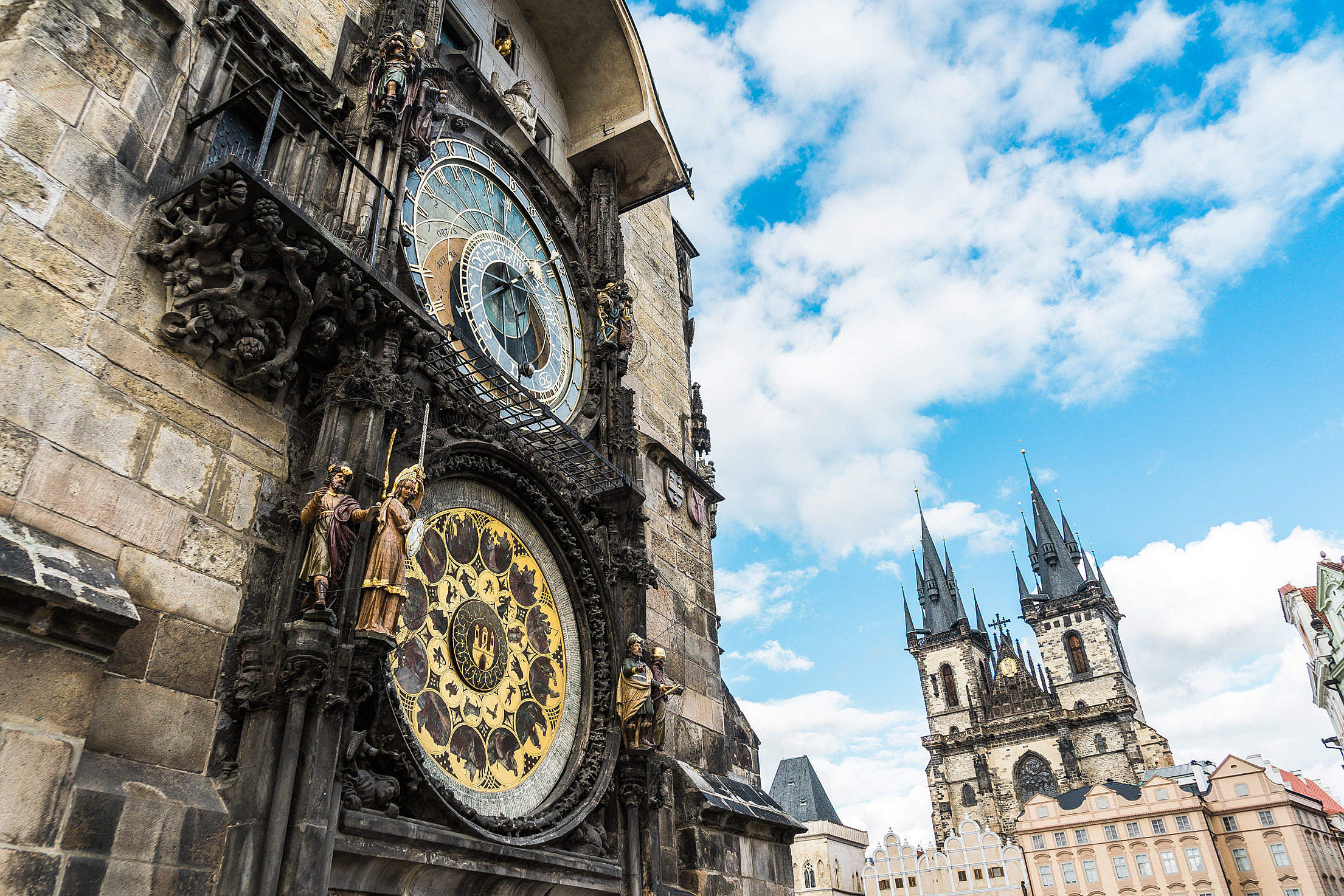 Astronomical Clock in the Old Town Square, Prague Free Stock Photo