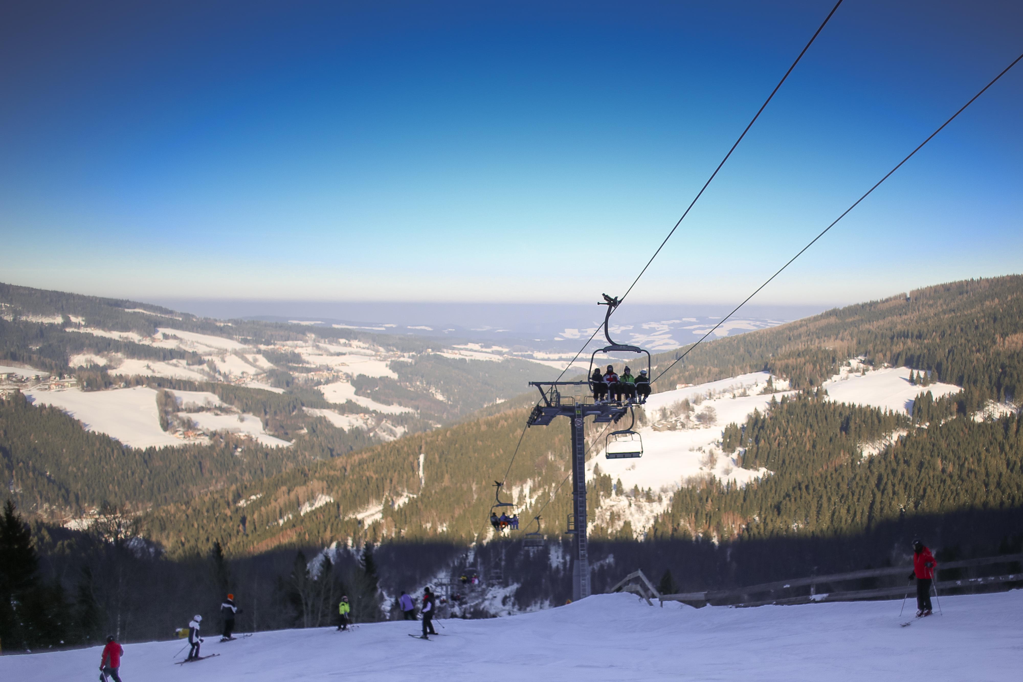 Download Austria Ski Lift Panorama FREE Stock Photo