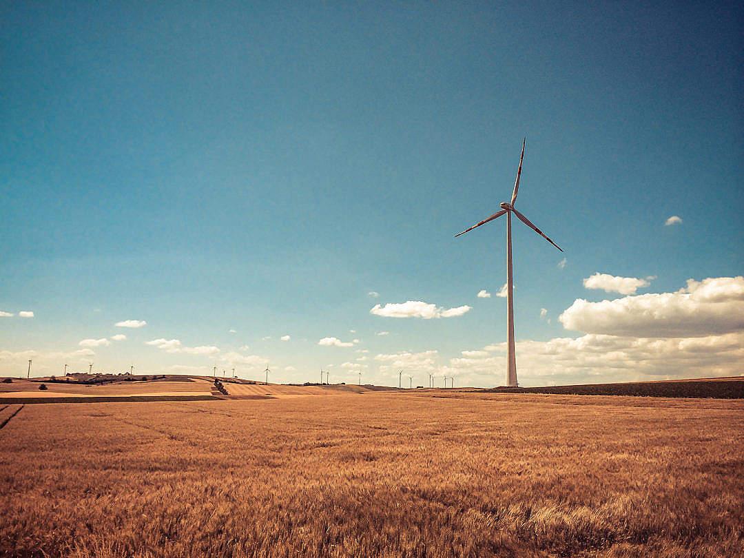Download Austria Windmill in Retro Colors FREE Stock Photo