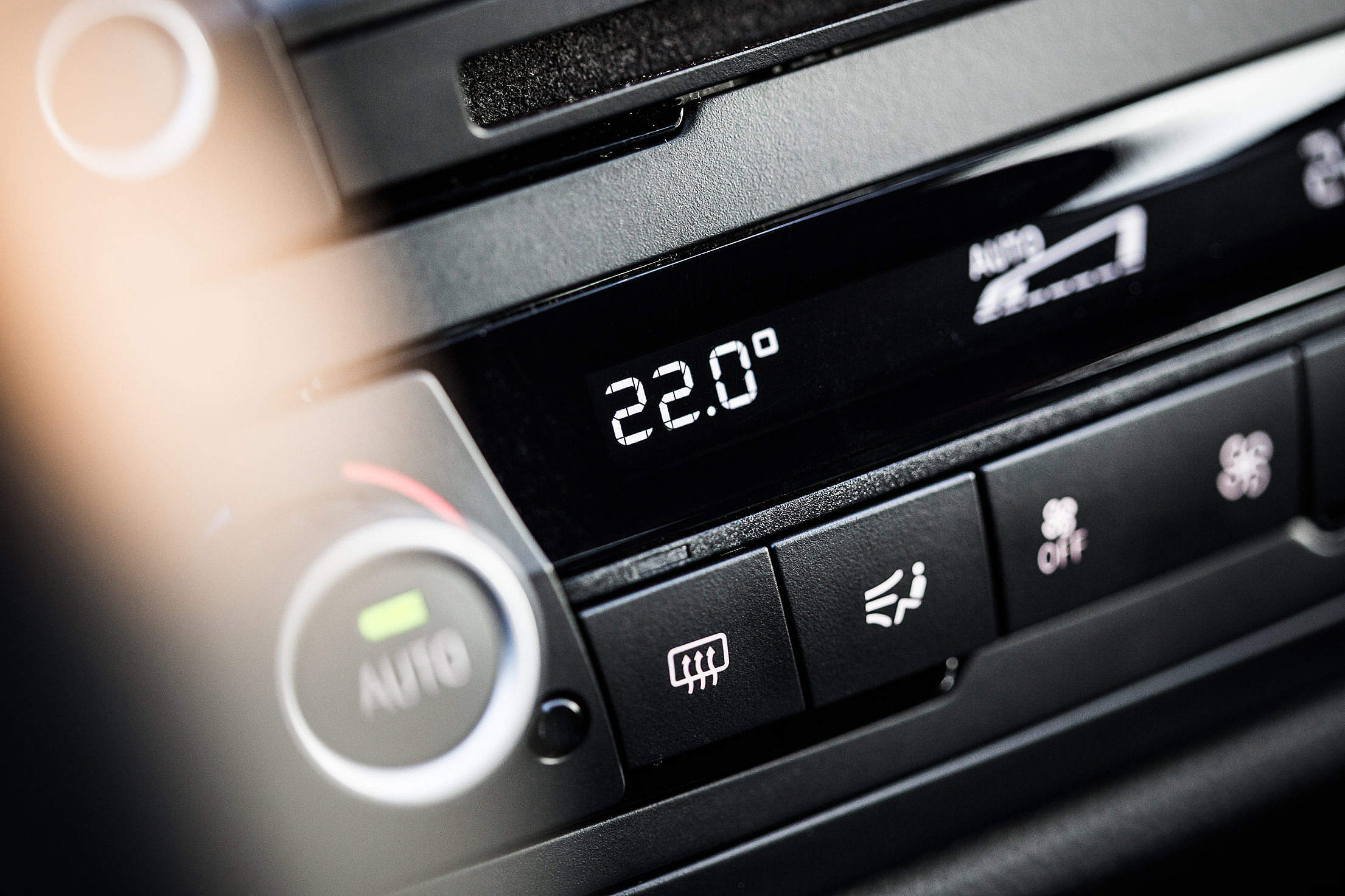 Automatic Air Conditioning in a Car Free Stock Photo