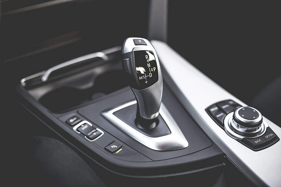 Download Automatic Transmission Gear Shift in Modern Car FREE Stock Photo
