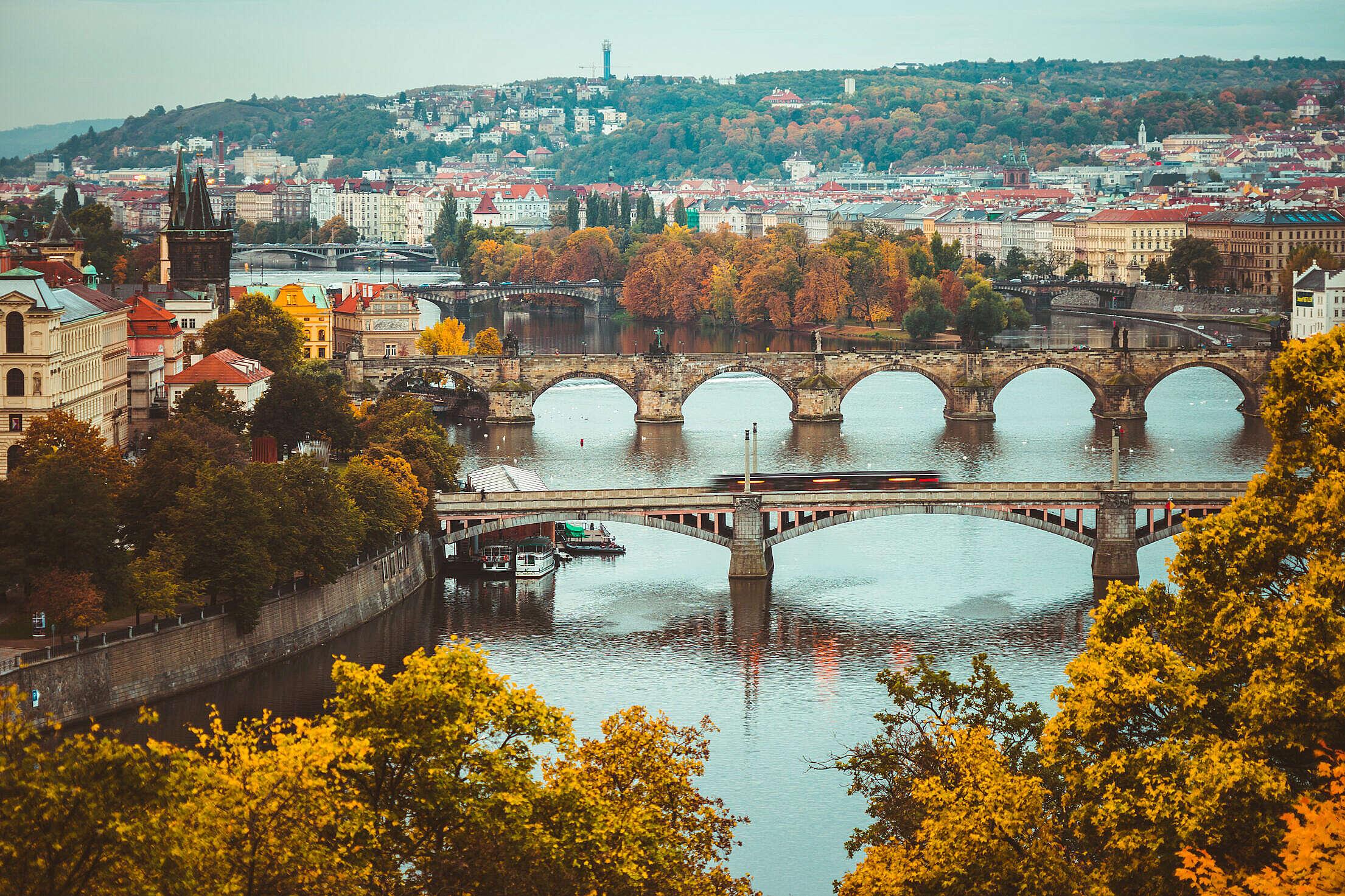Autumn Colors in Prague, Czechia Free Stock Photo