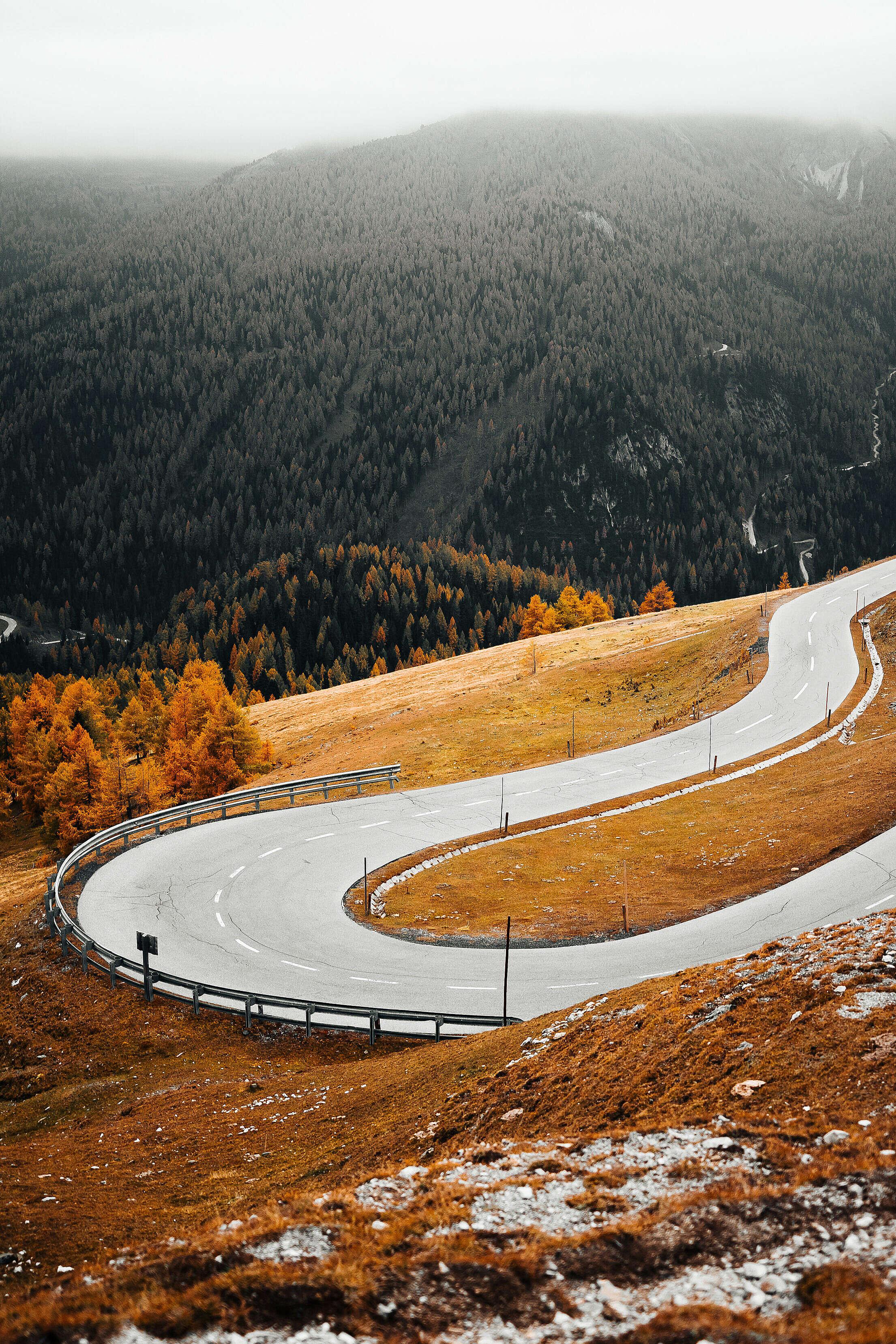 Autumn Nockalm Road, Nockberge Free Stock Photo