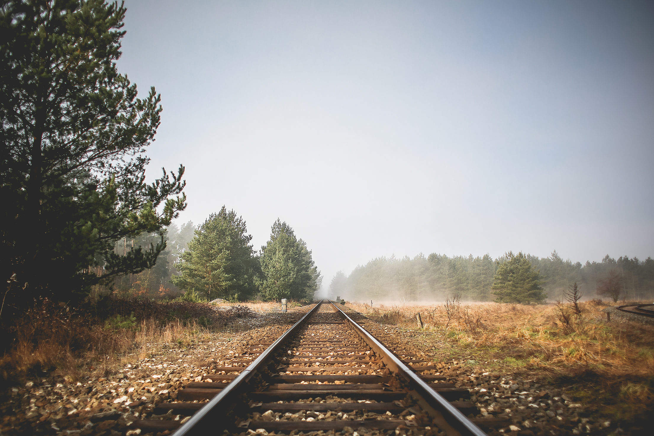 Autumn Railway Free Stock Photo